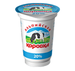 "Sour cream product ""Alpiiskaya korovka"""